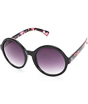 Lulu Floral Oversized Rounded Sunglasses