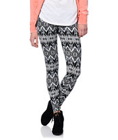Lunachix Black & White Tribal Print Leggings