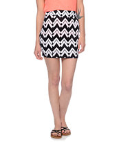 Lunachix Black & White Tube Skirt