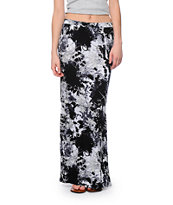 Lunachix Black & White Washed Maxi Skirt