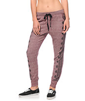 Lunachix Blackberry Boarder Print Jogger Pants