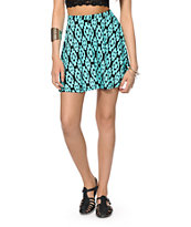 Lunachix Blue Tribal Skater Skirt