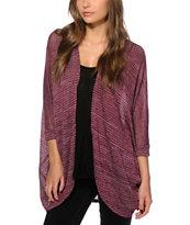 Lunachix Burgundy Kimono