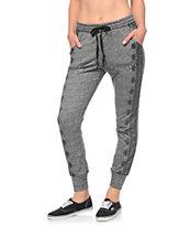 Lunachix Charcoal Boarder Print Jogger Pants