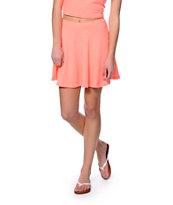 Lunachix Coral Textured Skater Skirt