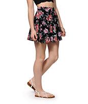 Lunachix Floral Skater Skirt