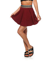 Lunachix Lexi Blackberry Tribal Waist Skater Skirt