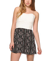 Lunachix Lila Tribal Strapless Dress