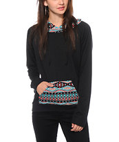Lunachix Marissa Tribal Pocket Hoodie