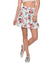 Lunachix Mint Floral Skater Skirt