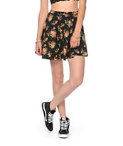 Lunachix Roses Floral Skater Skirt