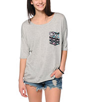 Lunachix Tribal Pocket Grey T-Shirt