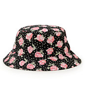Lurk Hard Floral Polka Bucket Hat