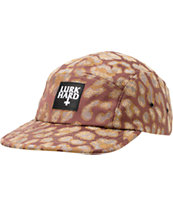 Lurk Hard Wine & Leopard Print 5 Panel Hat