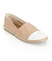 Madden Girl Portia Nude Perforated Leather Shoes