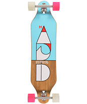 "Madrid Cut Bamboo 37.875"" Drop Through Longboard Complete"