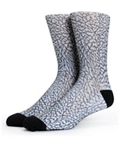 Magnum Elephant Crack Sublimated Crew Socks