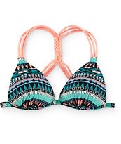 Malibu Arrowhead Treasure Molded Halter Bikini Top