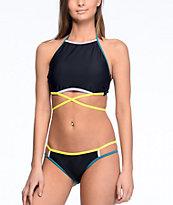 Malibu Colorblock Purple & Yellow Hipster Bikini Bottom