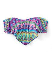 Malibu Deco Ling Flounce Bikini Top