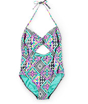 Malibu Geotopia Cut Out One Piece Swimsuit