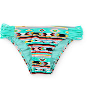 Malibu Mermaid Tribal Spirit Strap Side Bikini Bottom