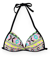 Malibu Queen Of Diamonds Molded Cup Bikini Top