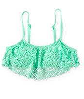 Malibu Summer Crochet Flounce Bikini Top