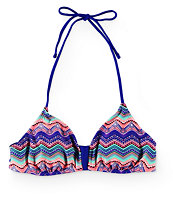 Malibu Tribal Wave Bralette Bikini Top