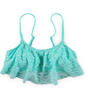 Malibu Walk This Way Crochet Flounce Bikini Top