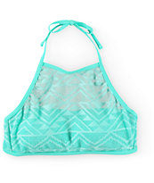 Malibu Walk This Way Crochet High Neck Bikini Top
