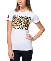 Married To The Mob Cat Logo White Tee Shirt