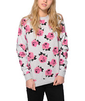 Married To The Mob Floral Crew Neck Sweatshirt