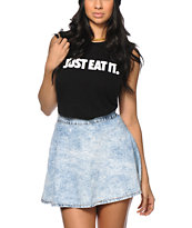 Married To The Mob Just Eat It Black Muscle Tee