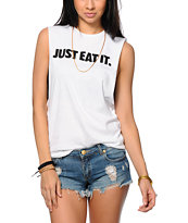 Married To The Mob Just Eat It Muscle Tee