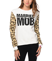 Married To The Mob Leopard Logo Crew Neck Sweatshirt