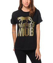 Married To The Mob Leopard Logo T-Shirt