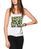 Married To The Mob NYC Weed Print Tank Top