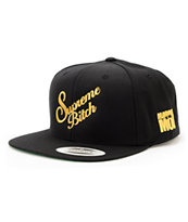 Married To The Mob Queen B Black Snapback Hat