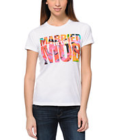 Married To The Mob Rose Fill Mob Logo White Tee Shirt