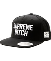 Married To The Mob Supreme Bitch Black Snapback Hat