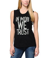 Married To The Mob Trust Money Black Muscle Tee Shirt