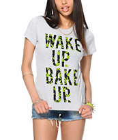 Married To The Mob Wake Up Weed Fill Tee Shirt