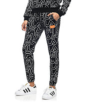 Married To The Mob x Fila Lounger Black Jogger Sweatpants