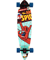 "Marvel x Santa Cruz Spiderman Hand 39"" Pintail Longoard Complete"