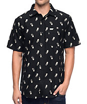 Matix 8 Ball Cat Black Button Up Shirt