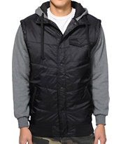 Matix Asher Chevron Black Vest Hoodie