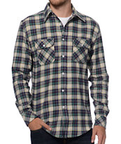 Matix Bronx Blue & Purple Plaid Flannel Shirt