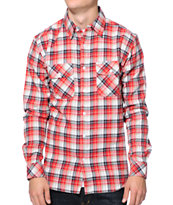 Matix Bronx Red Plaid Flannel Shirt