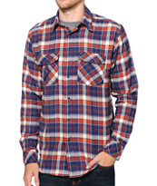 Matix Burls Dark Red Flannel Shirt
